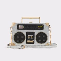 Aldo Tiezzo Stereo Ghettoblaster sparkly bag with gold chain (affiliate link) #christmaspartyoutfit