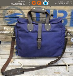 Navy laptop bag by United by Blue...you could help a beach cleanup with your purchase! $89