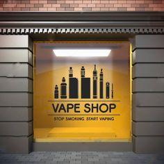 Wall Window Decal Sticker Vape Shop Vaping Vape Store Logo 1821t
