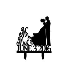 Customized Ethnic Bride and Groom Silhouette by 1TheCherryOnTop
