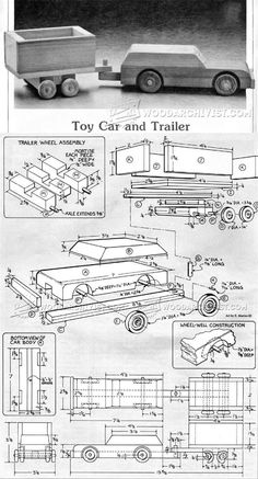 Wooden Car and Trailer Plans - Children's Wooden Toy Plans and Projects | WoodArchivist.com