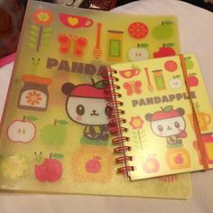 Pandapple binder and photo album set Pandapple is a character or Sanrio (the makers of hello kitty) . Photo album is half photo album half notebook . Binder has some pencil markings on the inside. $10 on Ⓜ️ercari ❌ no trades❌ Sanrio Other