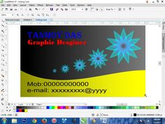 How To Make Your Own Visiting Card In Corel Draw X7.....