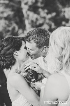 This groom surprised his wife with a new puppy! #puppy #surprise #wedding #love #gettingready #ideas #ontheday  #todolist