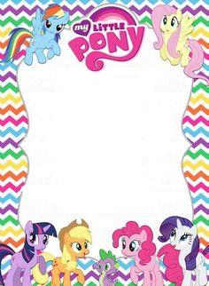 My Little Pony Invitation template: