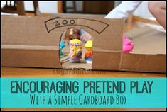 Small World Pretend Play with a Cardboard Box