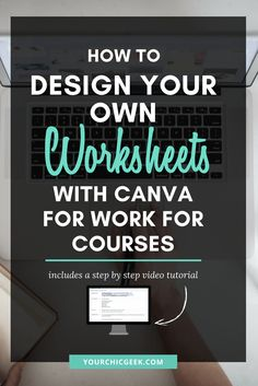 How to Make Your Own Worksheets with Canva for Work