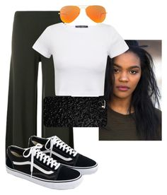 """""""China Anne McClain inspired outfit"""" by sydypop on Polyvore featuring Theory, Ray-Ban and J.Crew"""