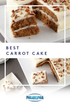 Fresh carrots are the perfect ingredient for this tasty Easter recipe! Try the Best Carrot Cake with delicious cream cheese frosting and make this Easter your best one yet! #ItMustBeThePhilly