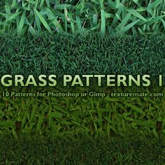 Grass Pattern Set for Photoshop or texturemate.com - Free 3D Textures, Brushes, Patterns, and Design.
