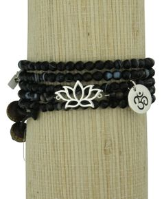 Lotus Jewelry | Om Jewelry | Wrap Bracelet, love this