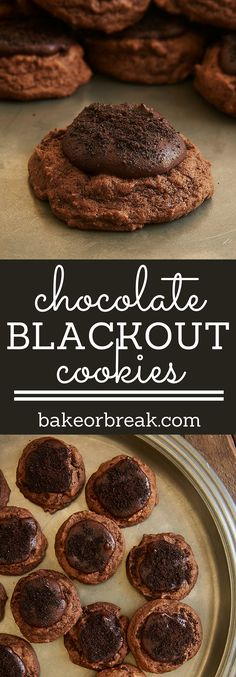 Chocolate lovers will absolutely adore these wonderfully rich and delicious Chocolate Blackout Cookies! ~ http://www.bakeorbreak.com