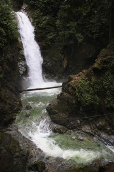 Cascade Falls is located northeast of Mission, BC