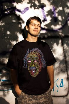 Acid Scientist tongue out psychedelic tshirt by PsychedelicDesign, $25.00