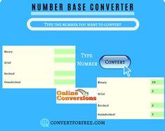 48 Best Number Base Converter images in 2019 | Online