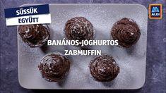Készítsd el Te is a banános-joghurtos zabmuffint! Süssük együtt! #aldi #recept Ale, Muffin, Cookies, Chocolate, Breakfast, Food, Yogurt, Crack Crackers, Morning Coffee
