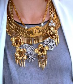 How to Layer Statement Necklaces