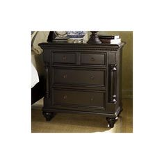 Tommy Bahama Home Kingstown Stony Point Nightstand in Tamarind