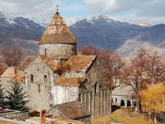 Good morning from Armenia 🇦🇲 🍂🍁 Sanahin Monastery ⛪️ Armenian Culture, Flight And Hotel, My Land, Place Of Worship, Countries Of The World, Art And Architecture, Cathedral, Travel Photography, Around The Worlds