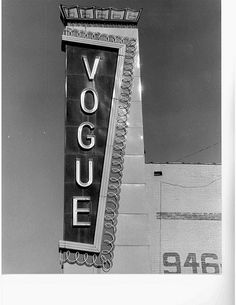 The Vogue Theater in Oak Cliff.
