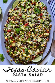 Get ready for your summer bbqs, potlucks, and picnics with this easy vegan Texas Caviar Pasta Salad. Made with fresh vegetables, beans, and a flavorful dressing this easy pasta salad is the perfect side dish for all your summer gatherings. Potluck Side Dishes, Summer Side Dishes, Eating Vegetables, Fresh Vegetables, Dairy Free Recipes, Vegan Recipes, Texas Caviar Recipe, Best Pasta Salad, Yummy Pasta Recipes