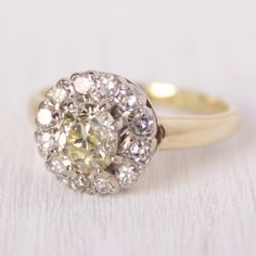 Veronica Cluster Vintage Engagement Ring – Victor Barbone