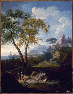 Locatelli Andrea - Paesaggio sul lido laziale - 1730 circa - Accademia Carrara di Bergamo Pinacoteca