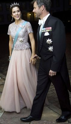 HRH Crown Prince Frederik and Crown Princess Mary attend the gala in honor of the visit President of Vietnam 9/18/2013