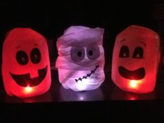 halloween milk jug crafts just saw these tonight led tea lights very cute