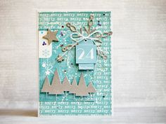 card by AgnieszkaD, using chippies from Eye 3rd Eye, Merry Xmas, Christmas Ideas, Cards, Maps, Playing Cards