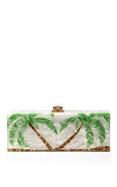 Shop Flavia Palms Pearlescent Acrylic Clutch by Edie Parker Now Available on Moda Operandi