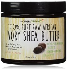 Molivera Organics Raw African Organic Grade A Ivory Shea Butter for Natural Skin Care, Hair Care - 16 oz. Molivera Organics http://smile.amazon.com/dp/B00CHMWAY8/ref=cm_sw_r_pi_dp_QqVYvb0N4M2QQ