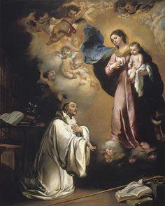 MURILLO, BARTOLOMÉ ESTEBAN La Aparición de la Virgen a San Bernardo