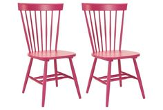 Pink Abigail Dining Chair, Pair