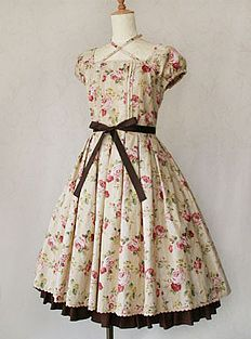 Victorian Maiden / One Piece / Lace Rose Ribbon Dress