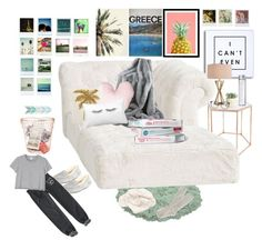 """""""Staying in!❤️😜"""" by bri0204 on Polyvore featuring Bloomingville, PBteen, UGG Australia, Catalina, Allstate Floral, ASOS, Dot & Bo, Aéropostale, Polaroid and Band of Outsiders"""