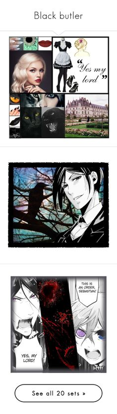 """""""Black butler"""" by reb-wareing ❤ liked on Polyvore featuring art"""