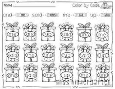 Miss Kindergarten: Winter Print and Go!