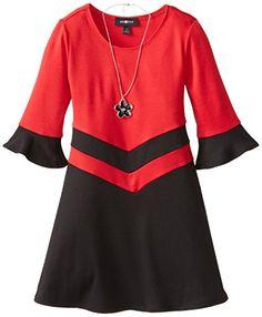 cameretta tortora : Amy Byer Big Girls Flared Sleeve Ponte Dress, Red, 7 Amy Byer http ...