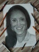 kreslený portrét ženy na objednávku  podporte ma na  www.facebook.com/portrety.obrazy https://instagram.com/lubomir.franciak/
