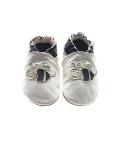 Take a look at this White Bee Leather Shoes - Infant & Toddler by Jack and Lily on #zulily today!