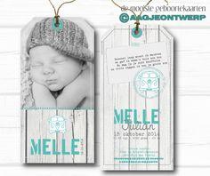 geboortekaart, label, foto, birth announcement, stoer, volkswagenbus, hout, grijs, mintgroen, aagjeontwerp