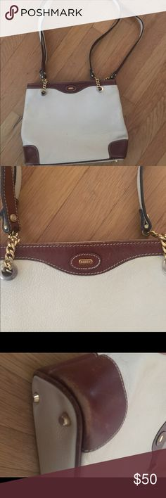 Bally two - strap shoulder handbag Vintage and in good condition bag. Corners are a bit worn out as in pics Bally Bags Shoulder Bags