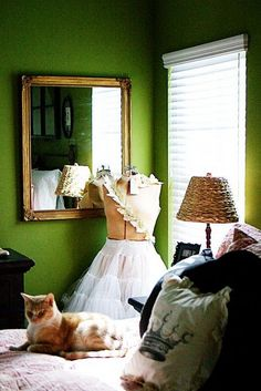 I love this color for Mabel's room and green is supposed to be soothing for kids.