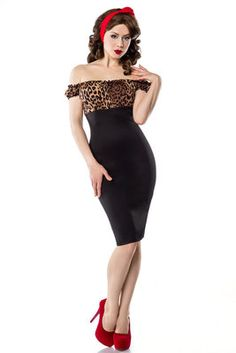 Vintage tijgerprint jurk