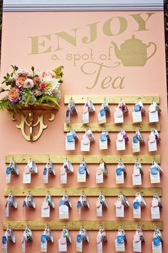 amorology: first comes love: Real Wedding Wednesday: Tea For Two