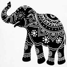 indian elephant art tattoo - would look great as paper cut. Indian Elephant Art, Elephant India, Indian Art, Dot Painting, Fabric Painting, Painting Tips, Abstract Paintings, Watercolor Painting, Zentangle Elephant