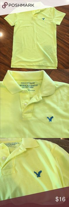 Bright yellow American Eagle polo Bright yellow (Gatorade Yellow) American Eagle polo shirt, like new American Eagle Outfitters Shirts Polos