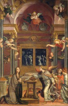 Bernardo Zenale-Annunciazione, 1510 - 1512, Olio su Tavola, cm 265 x 165,Pinacoteca di Brera,Milano
