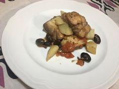 Baccalà in umido con olive e patate - YouTube